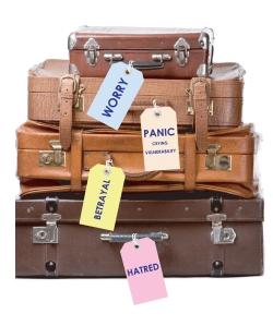 emotional baggage, forgiven, sinless, Love of God, burdens, guilt, depression