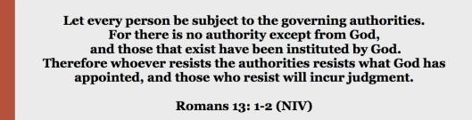 Romans 13.1-2