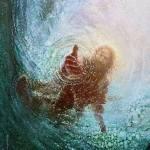 jesus under water